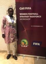 Seyni in Cairo at the Cup of Nations/FIFA meeting