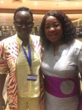 Seyni with FIFA Secretary General Fatma Samoura