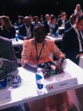 Seyni represents Senegal at FIFA Convention