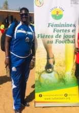 Woman coach of a girl's soccer team