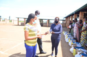 Our beneficiaries receiving food  donations