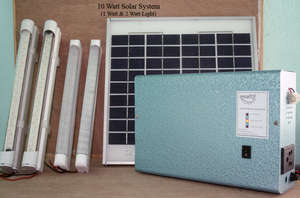 10 Watt Solar System with 1 W and 2 W LED Lights