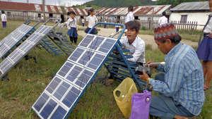 Charging Solar Tuki in School