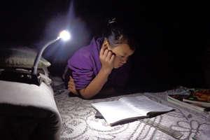 Student using solar tuki for study