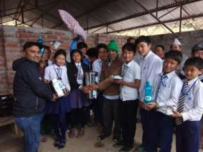 Solar Tuki lamp and other materials handover