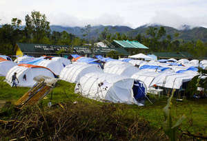 tent city of makeshift schools in Davao June 2013