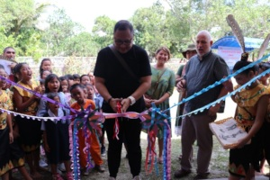 The ribbon cutting session