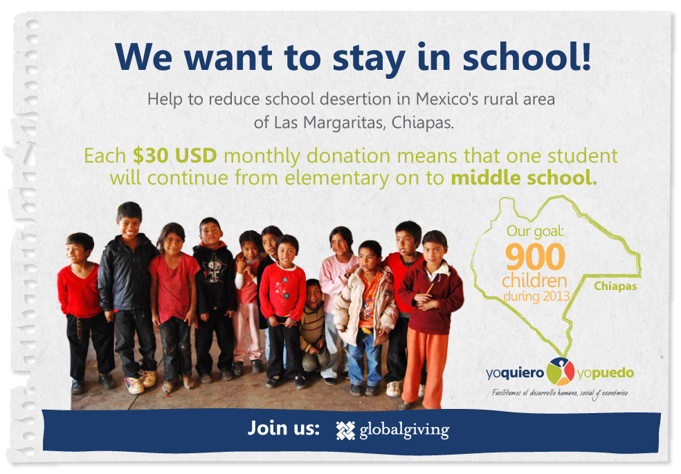 Help marginalized Mexican children and teenagers
