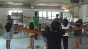 A music and dance workshop