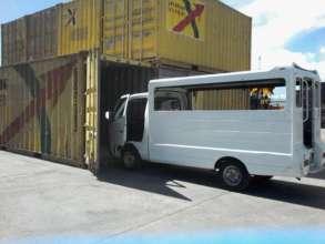 The truck leaving Tacloban