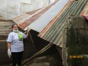Houses were damaged by the monsoon weather