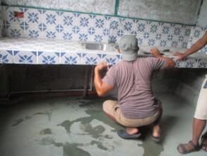 Some bathroom maintenance