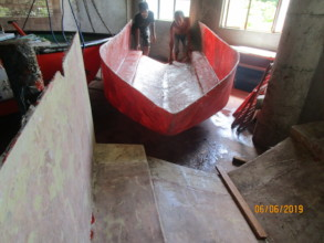 The hull removed from the mould