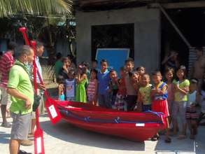 A small rescue boat in the community