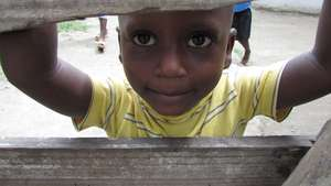 One of the many children the clinic's helped