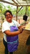 Dona Lila teaches a baking class