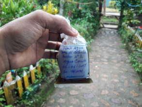 Boca de Sabalos' contaminated water sample.