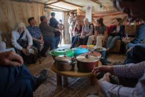A delicious lunch made by the women of Susiya