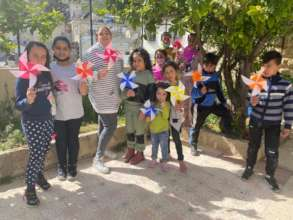 Pinwheels for Peace with the Madaa Creative Center