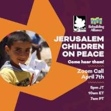 "Join us for ""Jerusalem Children on Peace"""