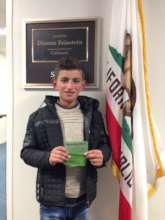 Ahmed at Senator Feinstein's Office