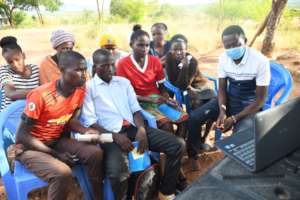 Miondoni students learning about Climate Change