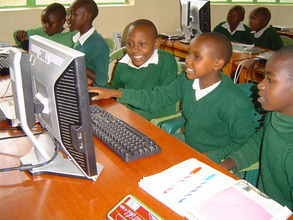 Nunga students watch an online educational video