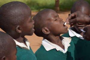 KC dewormed students at 28 schools!