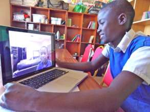 Student from Kambiti enjoy their video letter