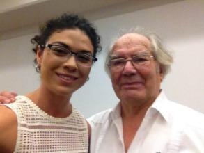 ED Andrea Herrera with Nobel Laureate Adolfo Perez