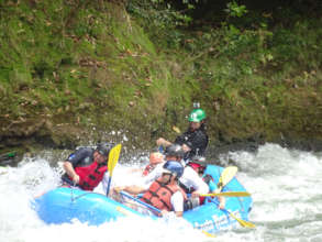 President Solis Rafting on the Savegre