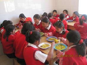 Dining room & mid morning hot meal program