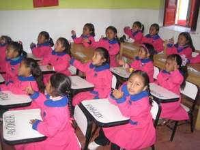 Kindergarten class in our old crowded school