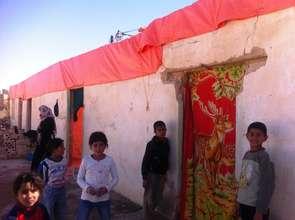 Many families seek refuge in abandoned buildings
