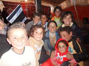 Syrian children whose families are being assisted