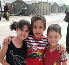 Syrian children in the Za'atari camp, Jordan