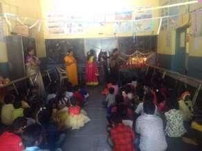 Get the blessings ofSaraswati,Goddess of learning