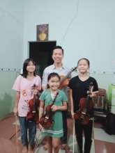 Han in our music class!