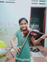 Han and her new violin!
