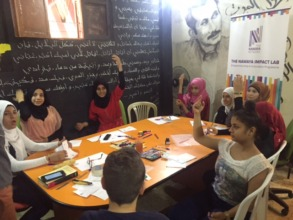 Refugee youth in an innovation session