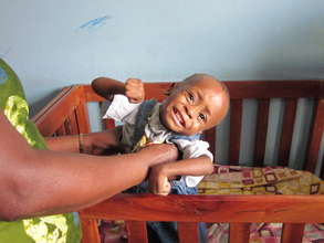 Severely malnourished child at one of the homes