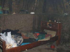 Interior of a choza