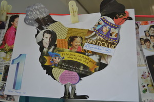 RPS Art Class Collage Chicken