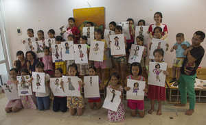 Our New Art Students-Ngoc Anh Village