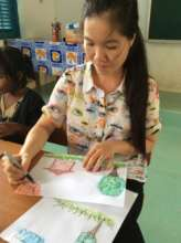 Nhu, one of our talented art teachers!