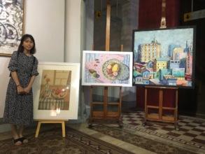 Trang at the Ho Chi Minh City Museum of Fine Arts