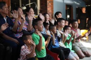 A regular meet up of foster cares and children