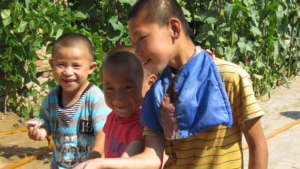 Children playing in Yulin, Guangxi, China