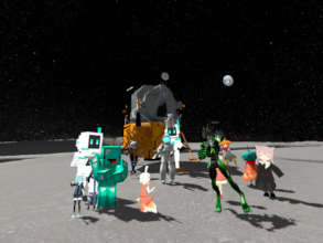 Group photo on the moon - next time, Jupiter!
