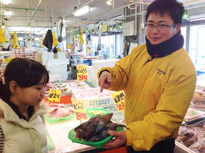 Interview at the fish market